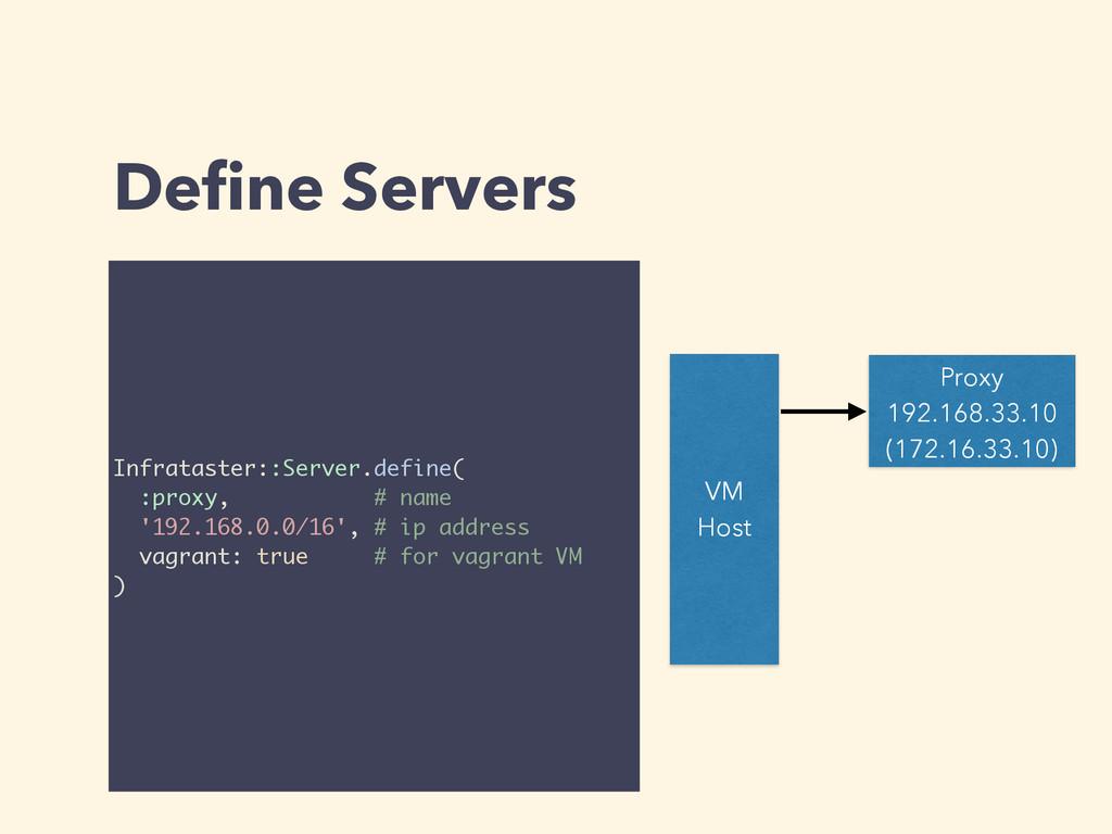 Define Servers VM Host Proxy 192.168.33.10 (172....