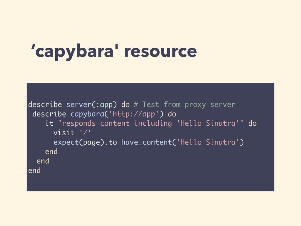 'capybara' resource describe server(:app) do # ...