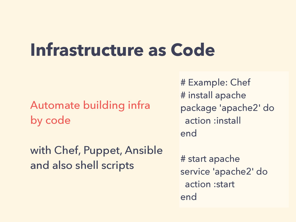 Infrastructure as Code Automate building infra ...