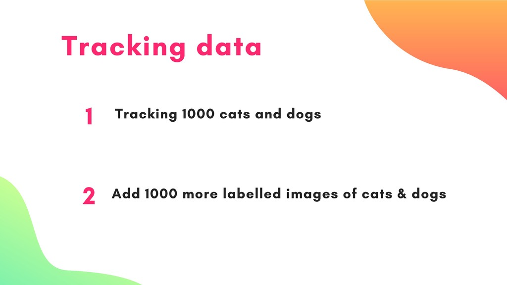 Tracking data 1 Tracking 1000 cats and dogs 2 A...