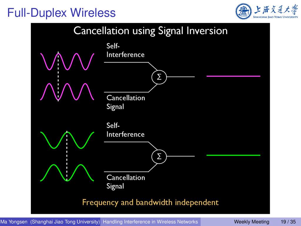 Full-Duplex Wireless Cancellation using Signal ...