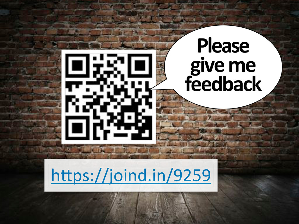 """h""""ps://joind.in/9259 Please& give&me& feedback"""