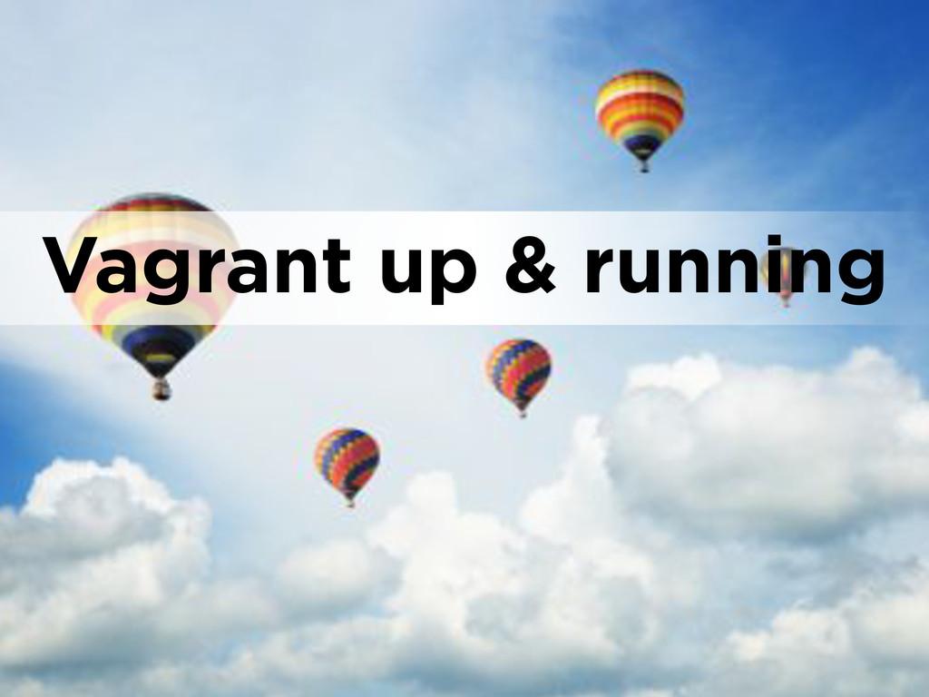 Vagrant up & running