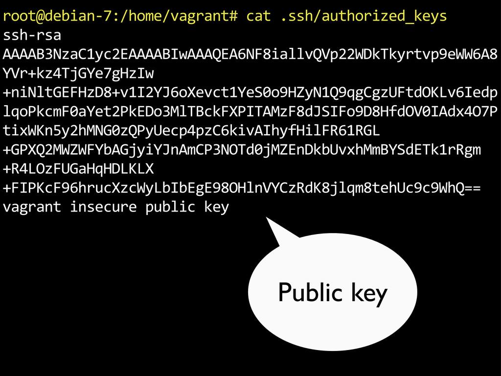 "root@debian.7:/home/vagrant#""cat"".ssh/authorize..."