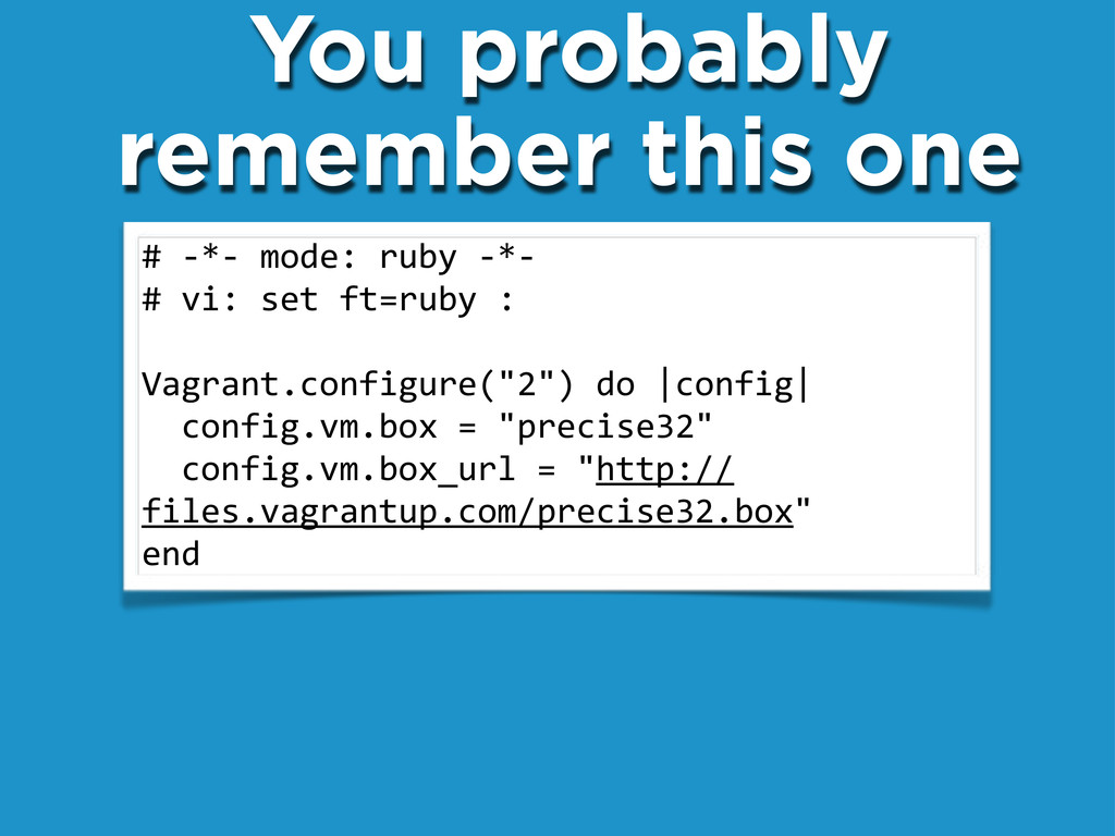 """#"""".*.""""mode:""""ruby"""".*. #""""vi:""""set""""ft=ruby"""": Vagran..."""