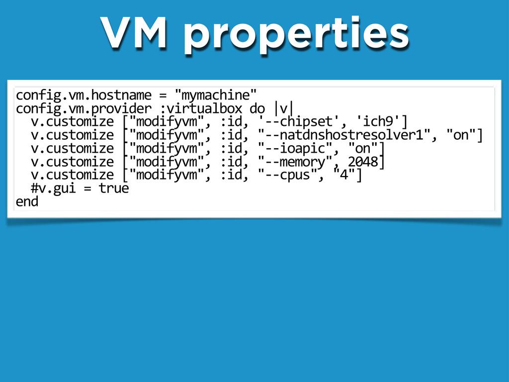 "config.vm.hostname""=""""mymachine"" config.vm.prov..."