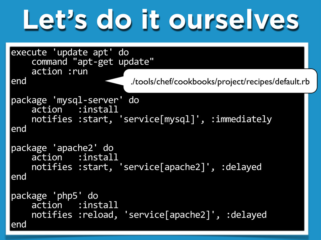 """Let's do it ourselves execute""""'update""""apt'""""do """"..."""