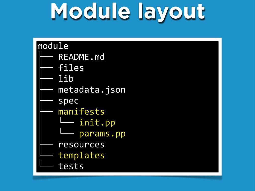 """Module layout module ├──""""README.md ├──""""files ├─..."""
