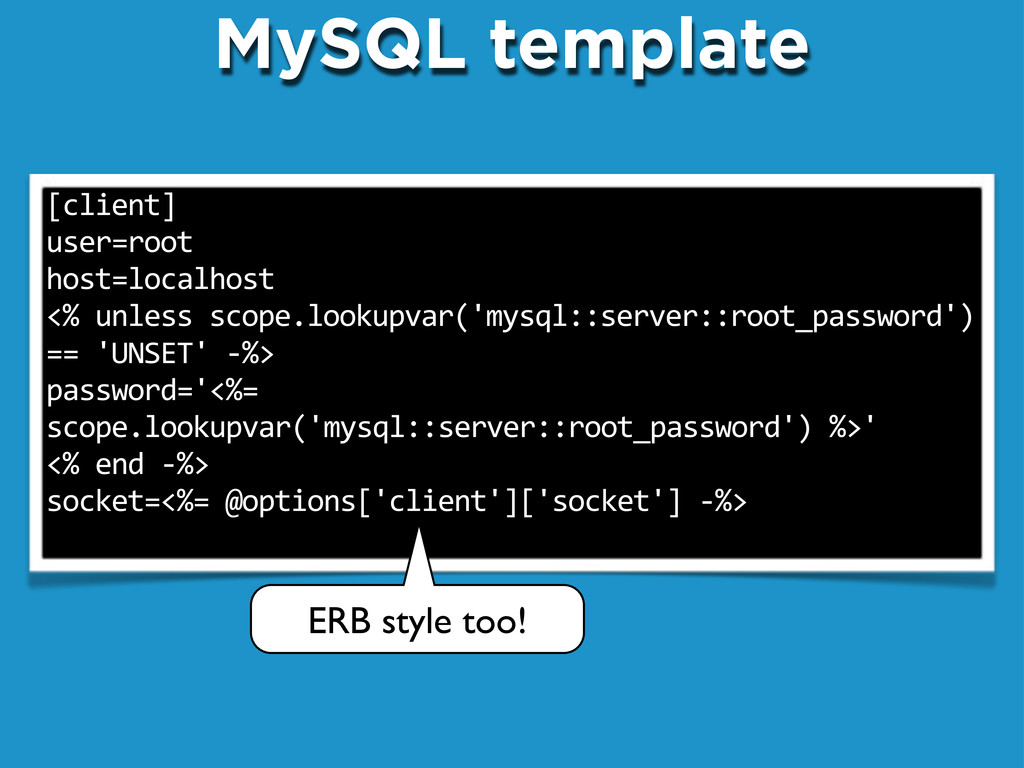 MySQL template [client] user=root host=localhos...