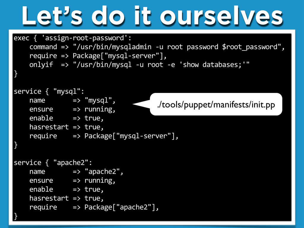 """Let's do it ourselves exec""""{""""'assign.root.passw..."""