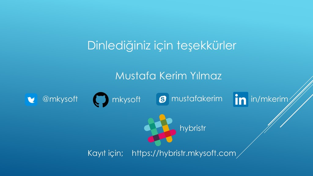 Dinlediğiniz için teşekkürler @mkysoft mustafak...