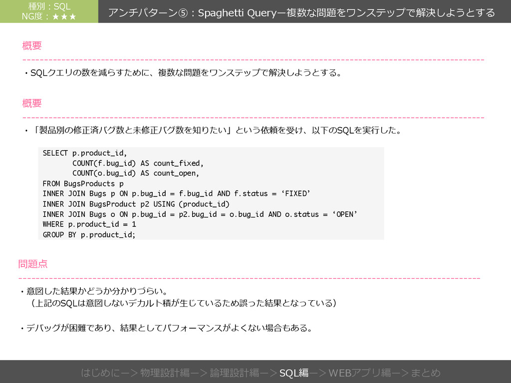 SELECT p.product_id, COUNT(f.bug_id) AS count_f...