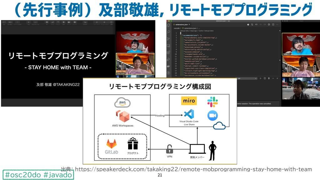 #osc20do #javado (先行事例)及部敬雄, リモートモブプログラミング 21 出...