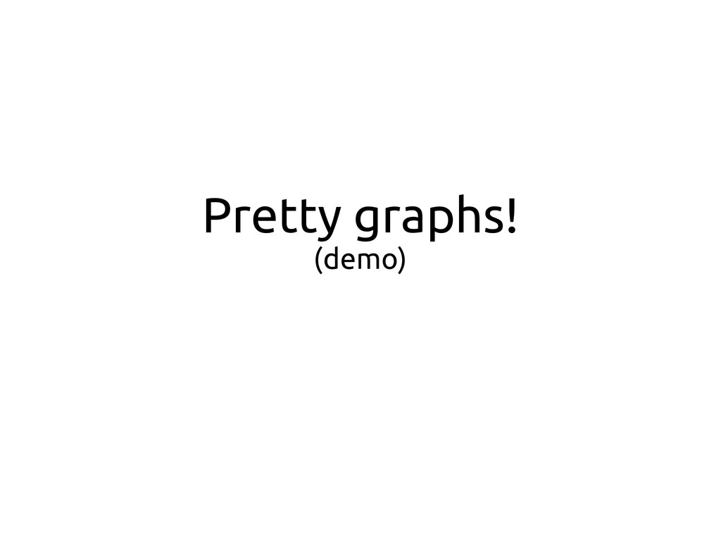Pretty graphs! (demo)