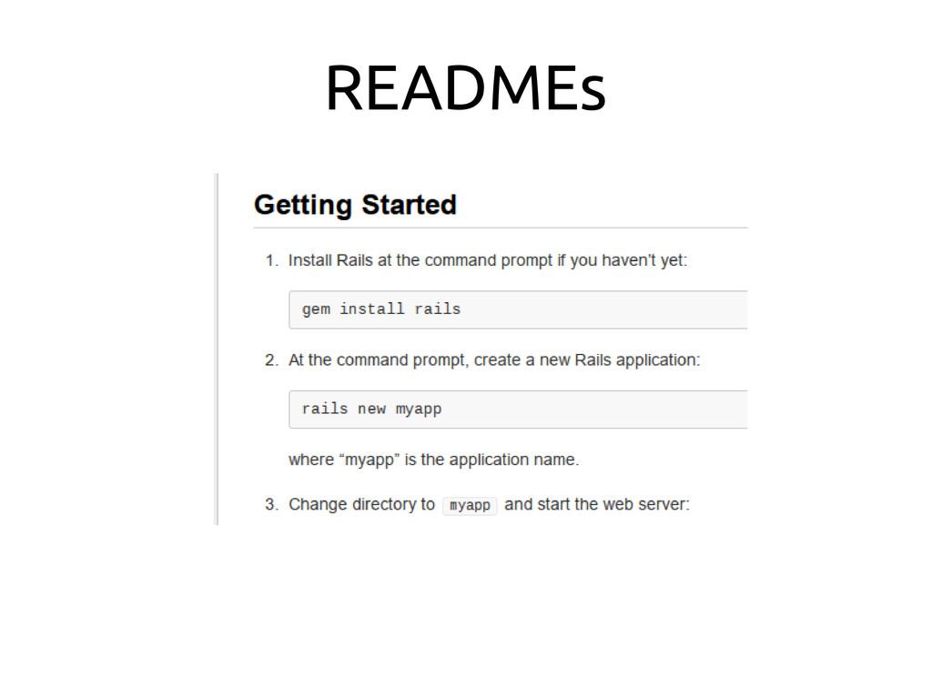 READMEs