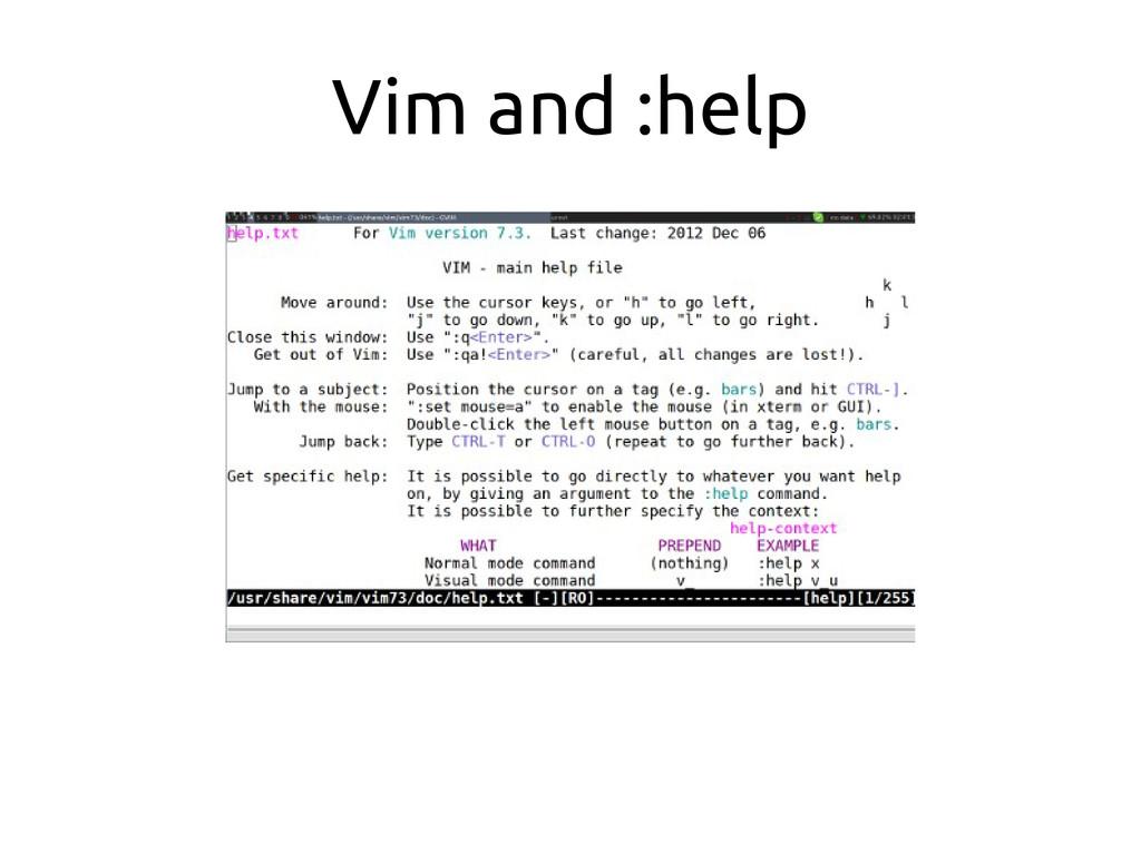 Vim and :help