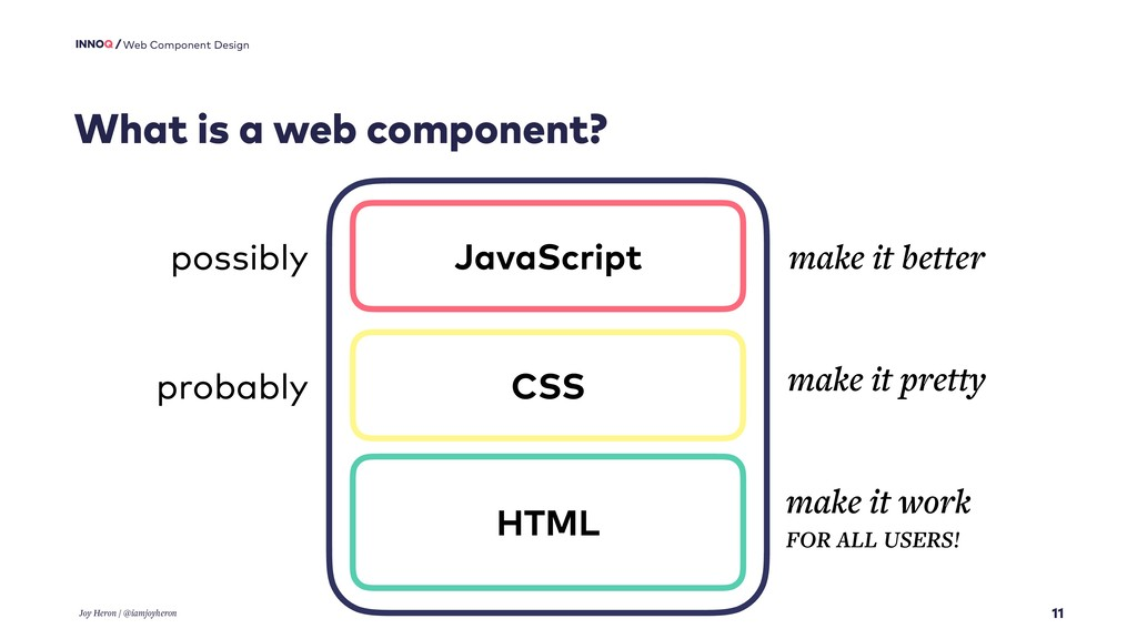 11 Web Component Design What is a web component...
