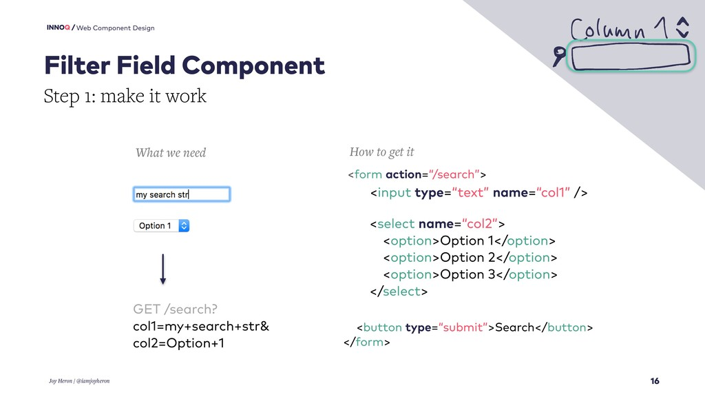 16 Web Component Design Filter Field Component ...