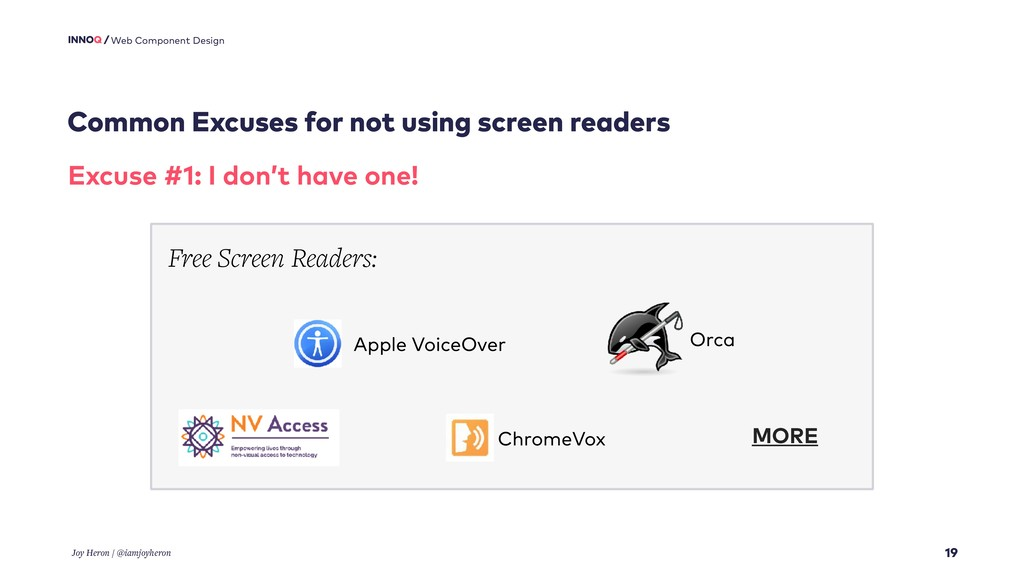 Common Excuses for not using screen readers 19 ...