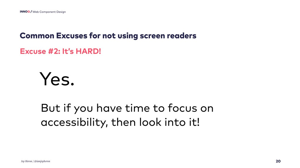 Common Excuses for not using screen readers 20 ...