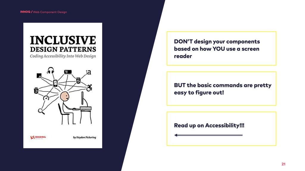 21 Web Component Design DON'T design your compo...