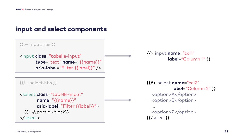 input and select components 48 Web Component De...