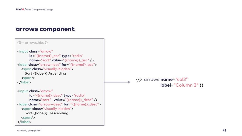 arrows component 49 Web Component Design Joy He...