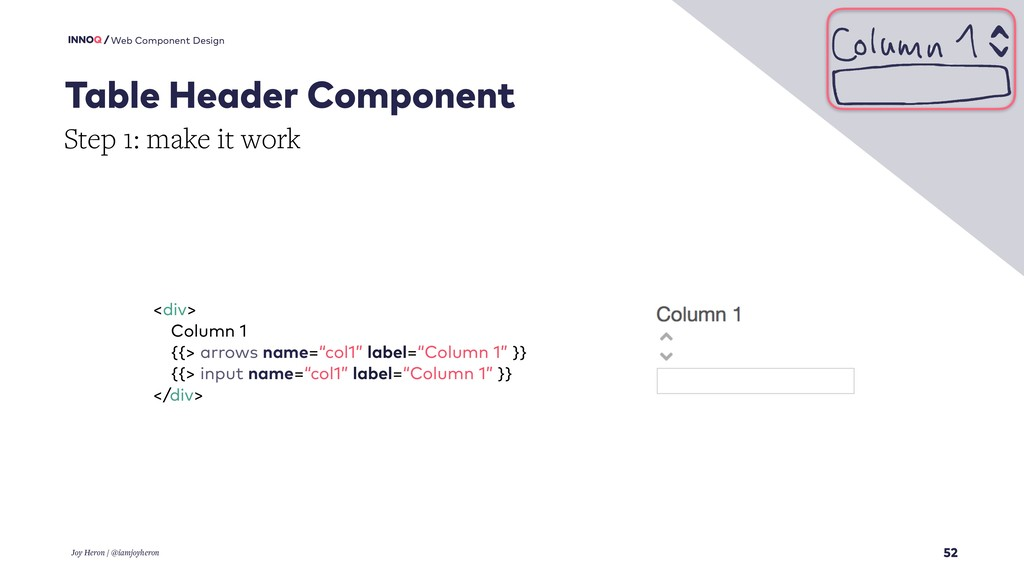 52 Web Component Design Table Header Component ...