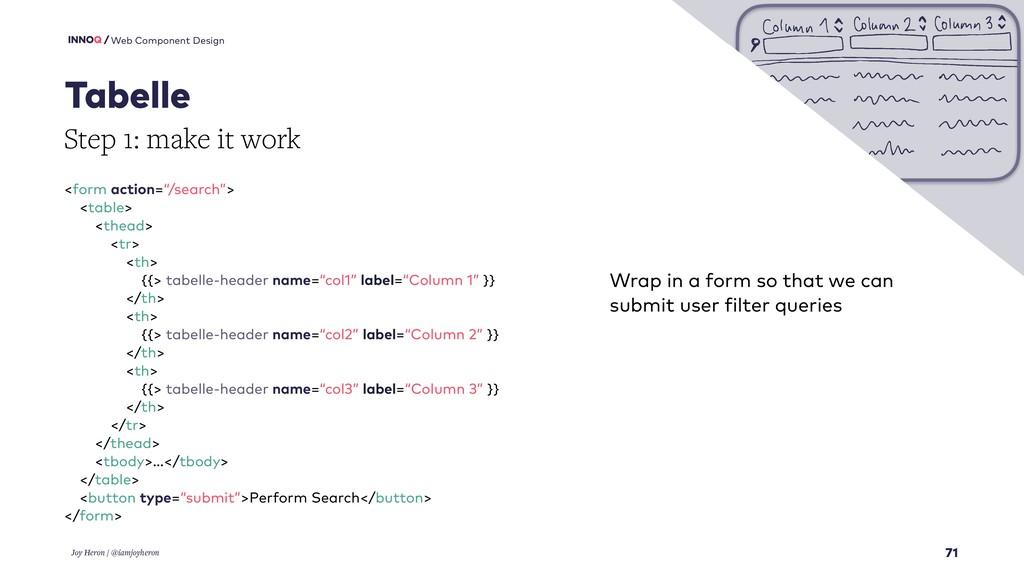 71 Web Component Design Tabelle Joy Heron / @ia...