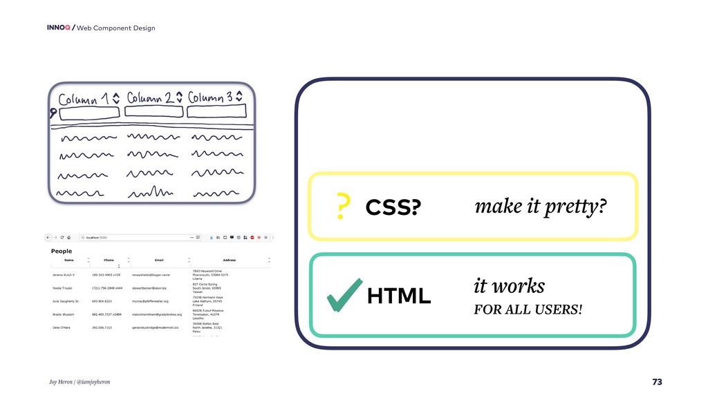73 Web Component Design Joy Heron / @iamjoyhero...