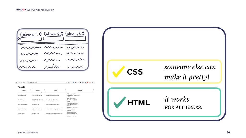 74 Web Component Design Joy Heron / @iamjoyhero...