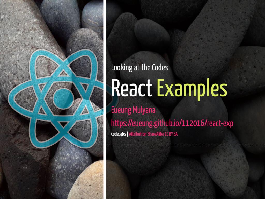 1 / 45 Looking at the Codes React Examples Eueu...