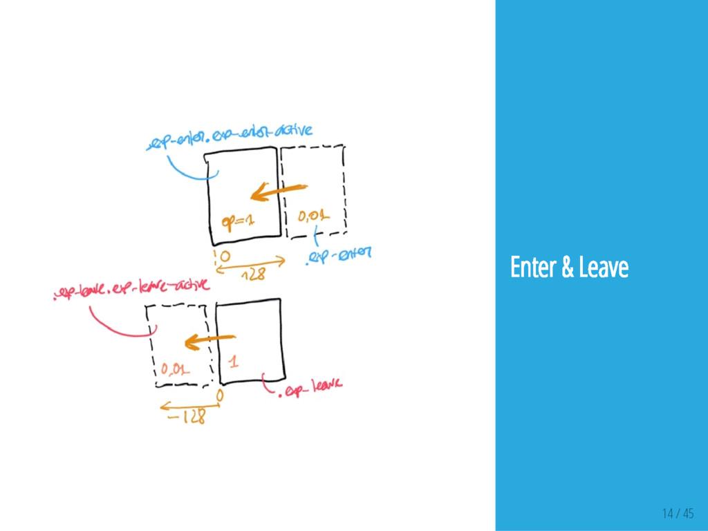 14 / 45 Enter & Leave