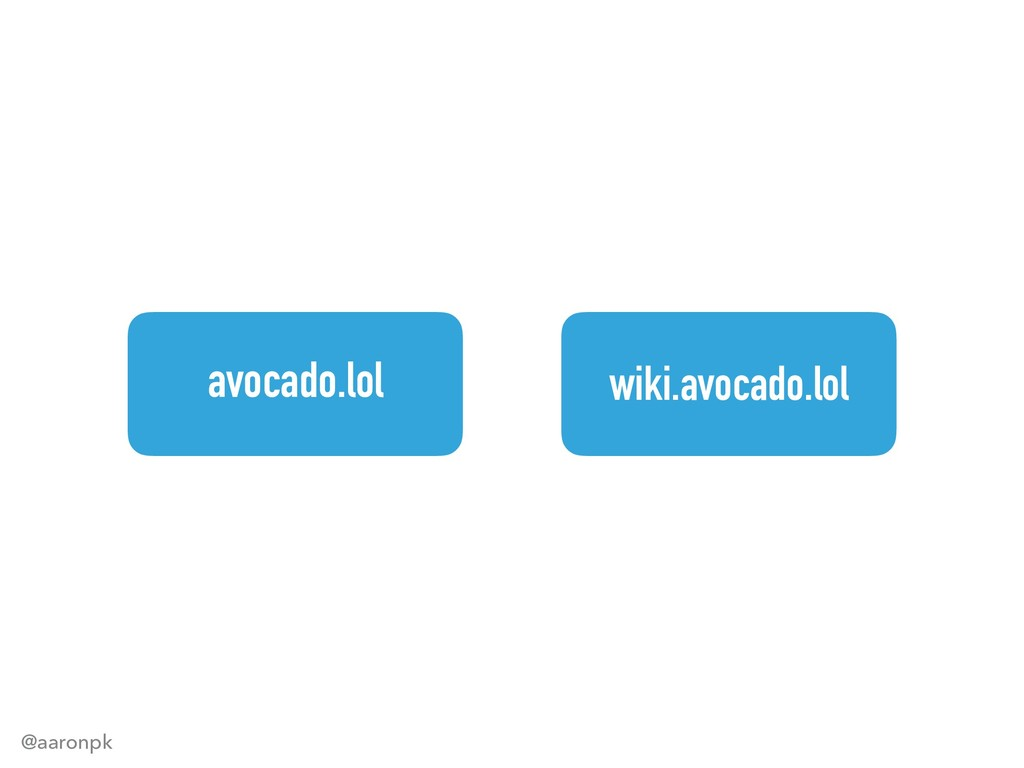 @aaronpk avocado.lol wiki.avocado.lol