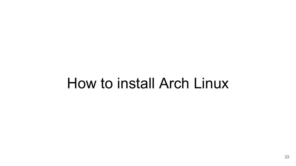 How to install Arch Linux 23
