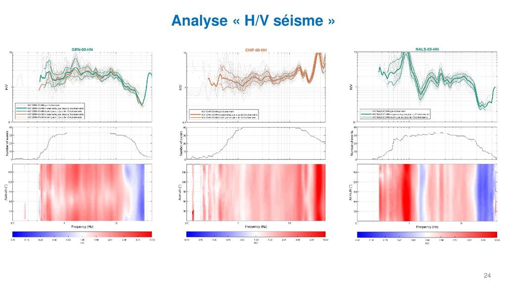 24 Analyse « H/V séisme »