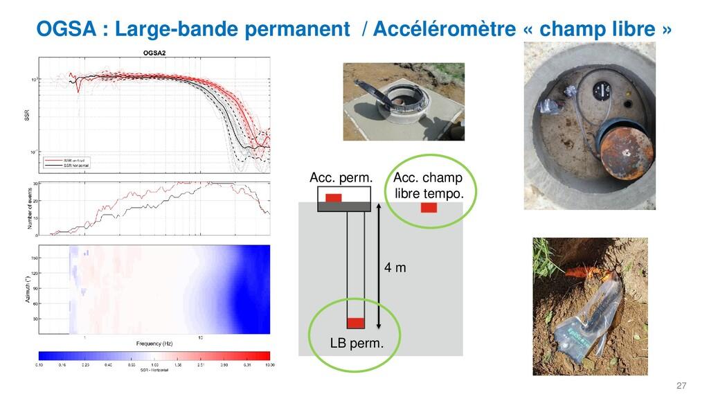 27 OGSA : Large-bande permanent / Accéléromètre...