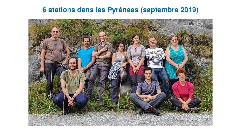 4 6 stations dans les Pyrénées (septembre 2019)