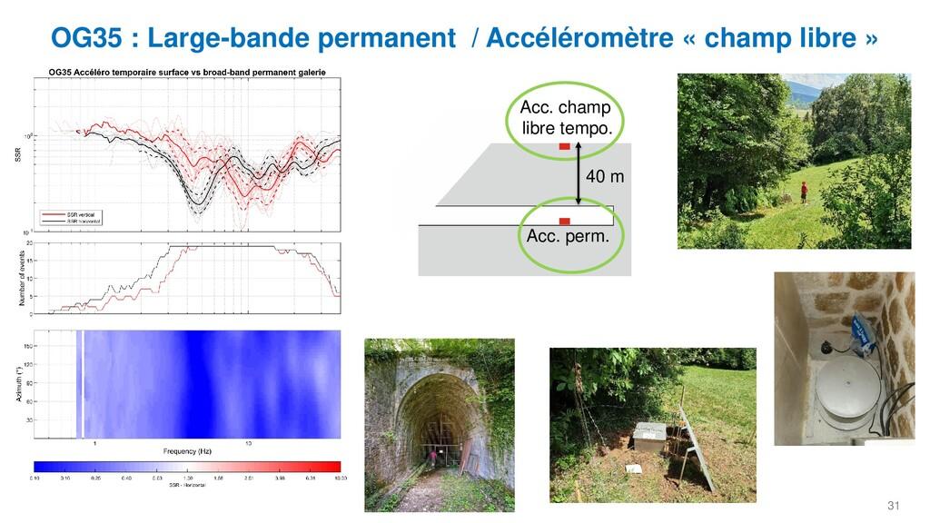 31 OG35 : Large-bande permanent / Accéléromètre...