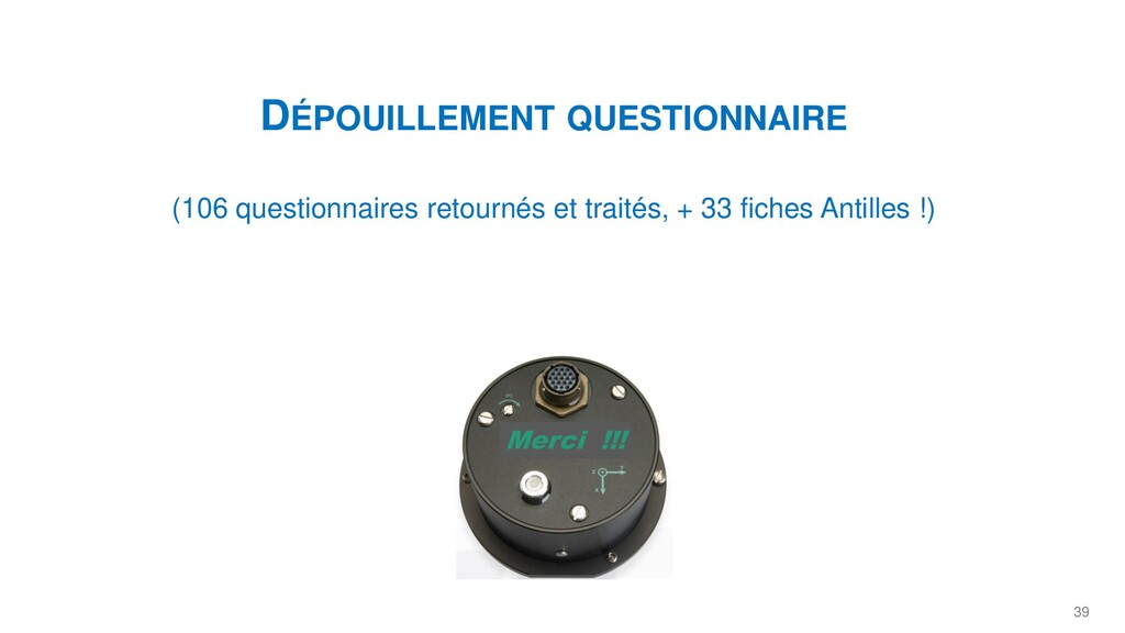 39 DÉPOUILLEMENT QUESTIONNAIRE (106 questionnai...