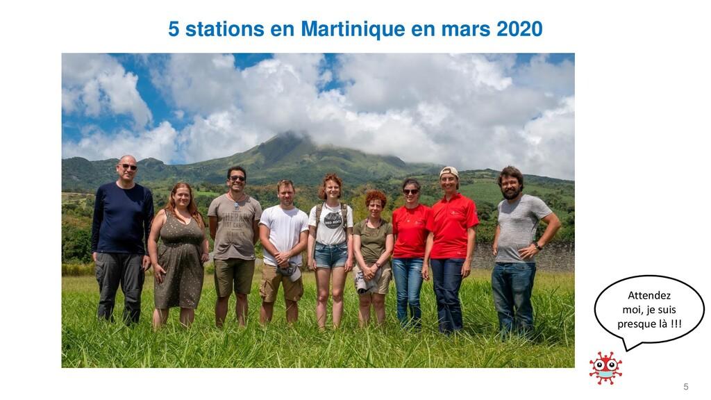 5 5 stations en Martinique en mars 2020 Attende...