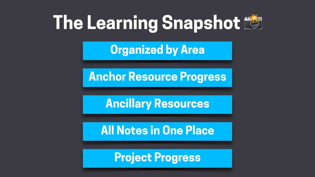 The Learning Snapshot  Organized by Area Anchor...