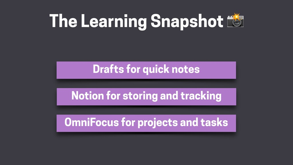 The Learning Snapshot  Drafts for quick notes N...