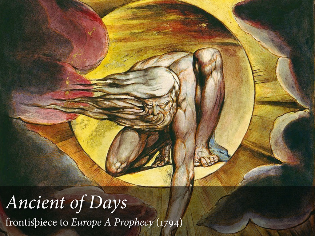 Ancient of Days frontiiece to Europe A Prophec...