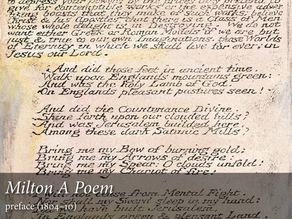Milton A Poem preface (–)