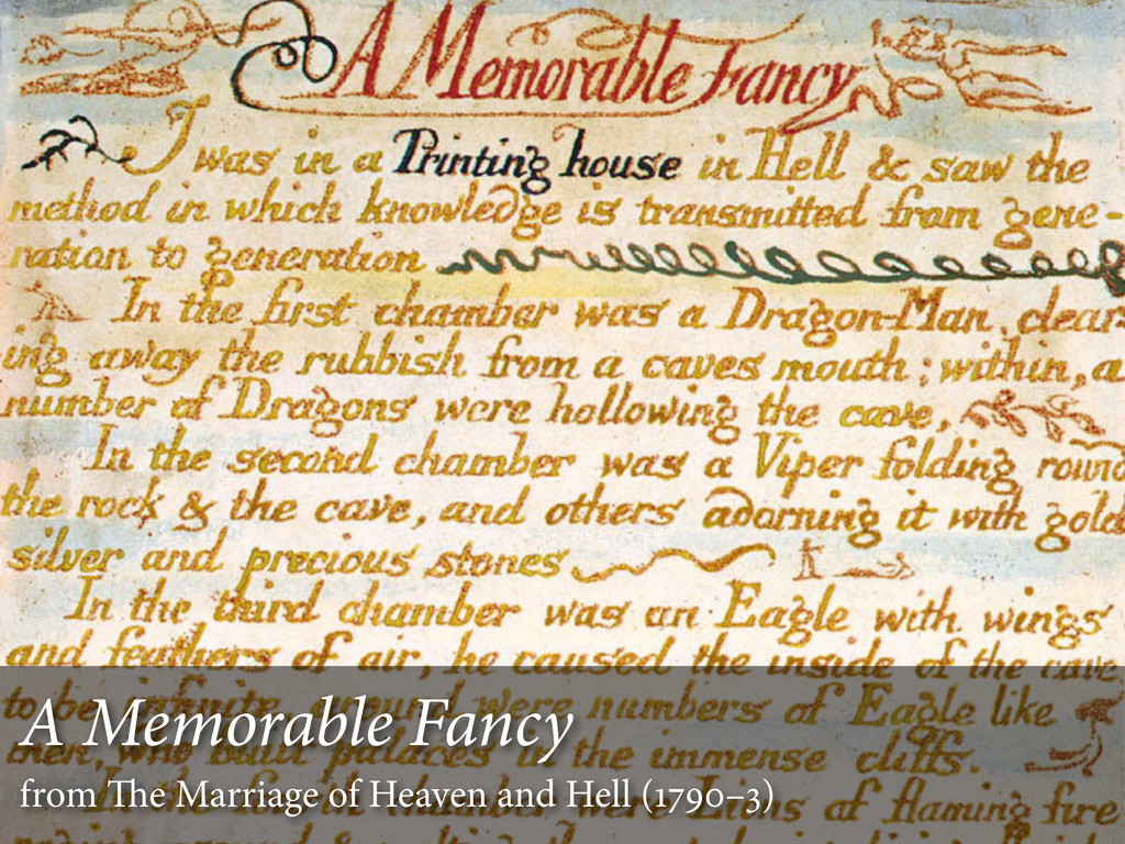 A Memorable Fancy from e Marriage of Heaven an...