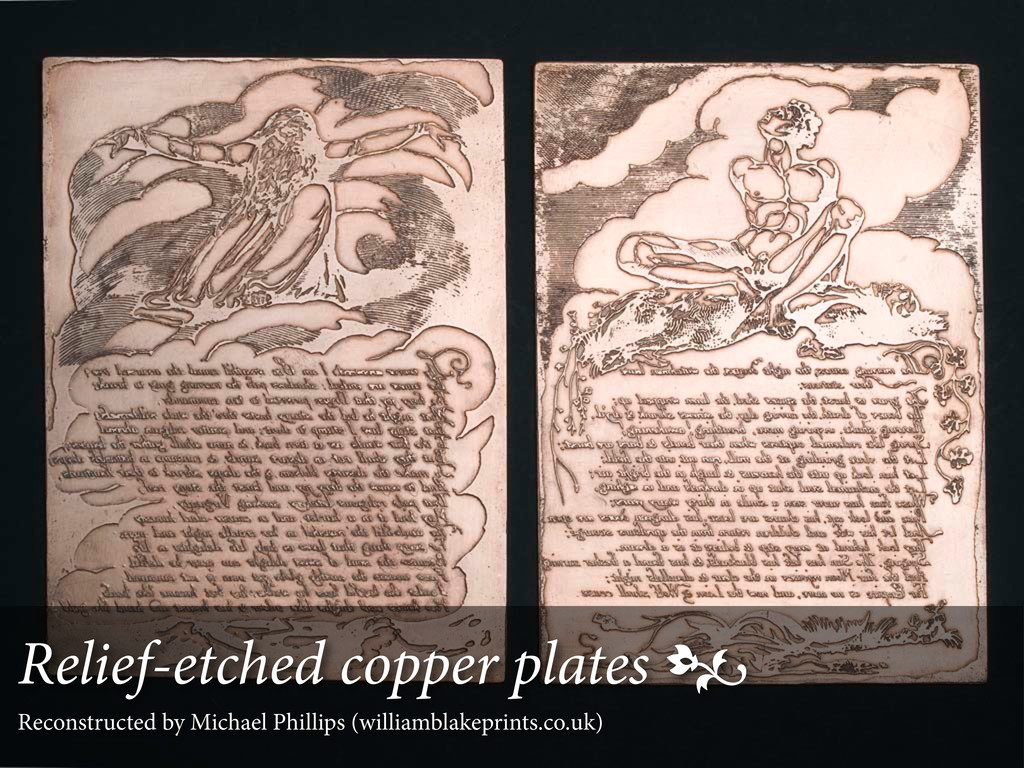 Relief-etched copper plates  Reconstructed by ...