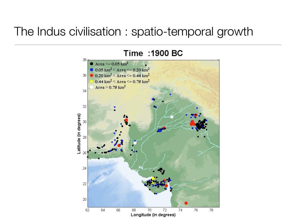 The Indus civilisation : spatio-temporal growth