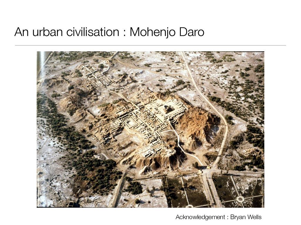 An urban civilisation : Mohenjo Daro Acknowledg...