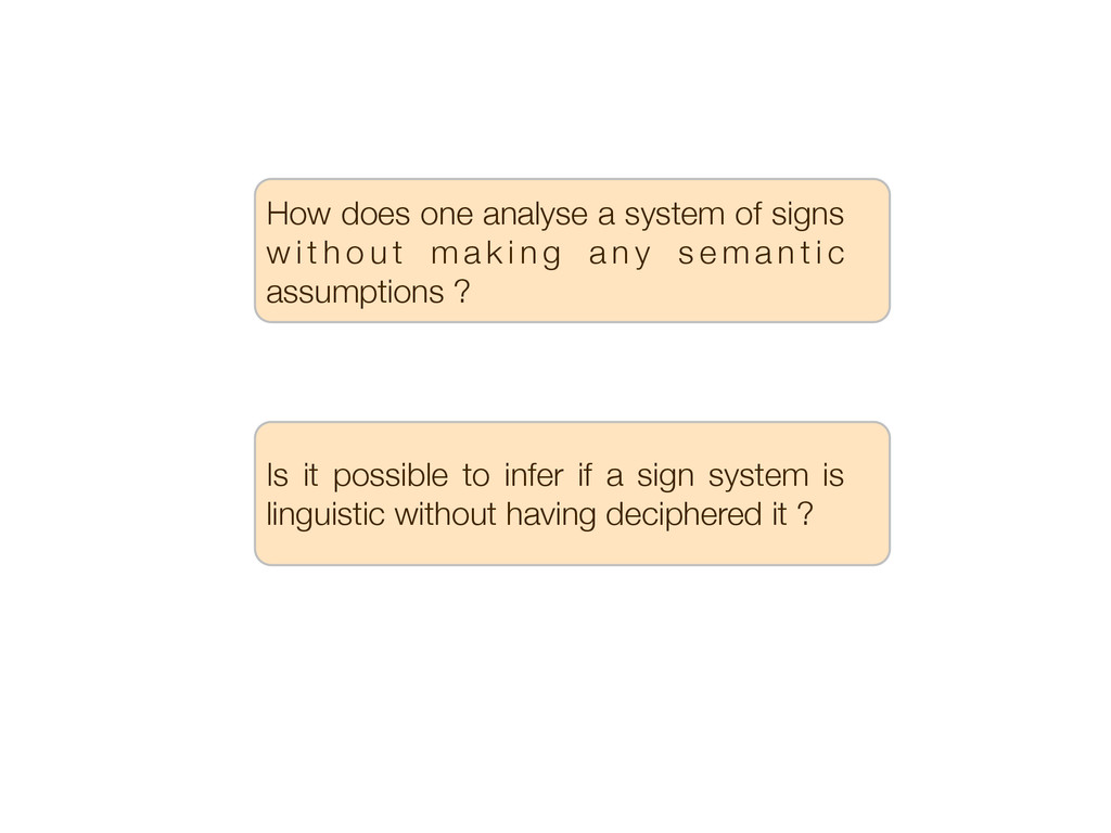 How does one analyse a system of signs w i t h ...